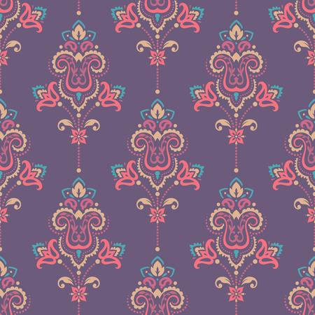 Seamless paisley pattern Ilustracja