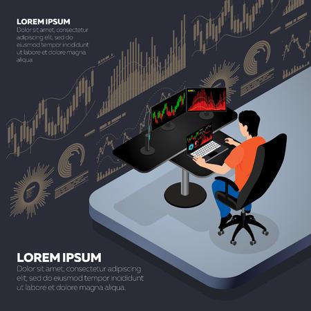 Businessman or stock market trader