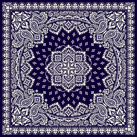Paisley Bandana print Illustration