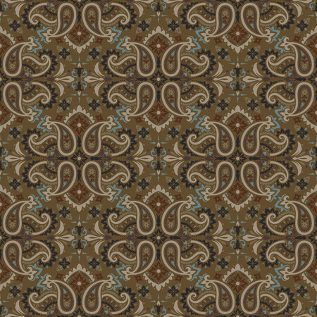 Seamless paisley pattern Vectores
