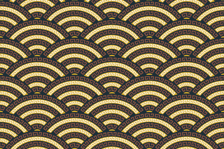 Seamless vector pattern. Traditional asian ornamental motive. Illustration