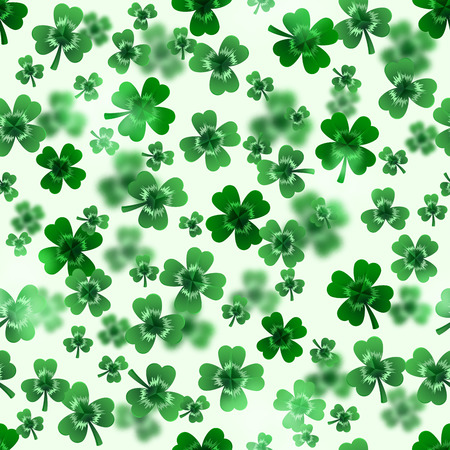 Seamless clover leaves background for Saint Patrick Day. Иллюстрация