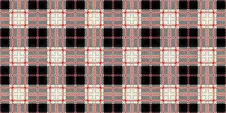 Diseño de estampado de moda popular para tela u otros productos en 2019. Tejido de células escocesas. Patrón sin costuras de tartán. Patrón en una celda.
