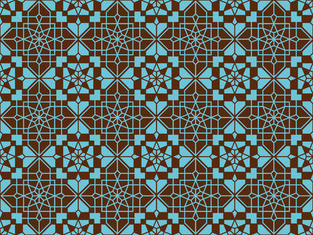 Motif oriental sans couture néoclassique. Contexte islamique. Texture linéaire arabe. Illustration vectorielle