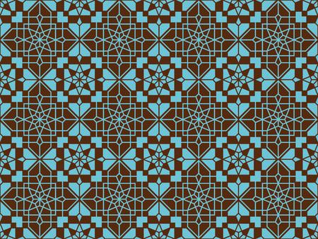 Reticolo orientale senza giunte neoclassico. sfondo islamico. Trama lineare araba. Illustrazione vettoriale