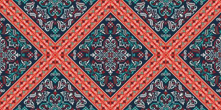 Seamless pattern based on ornament paisley Bandana Print. Vector ornament paisley Bandana Print.