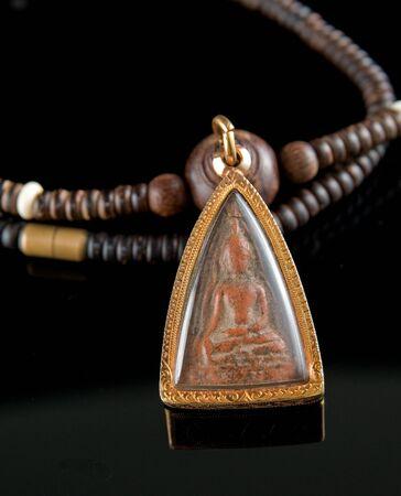 amulet: Thai Buddha Amulet Stock Photo