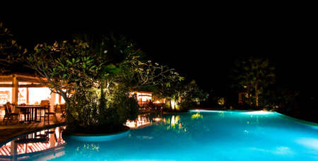 kovalam: dinner by the pool side
