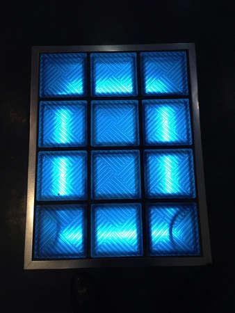 grid: blue light