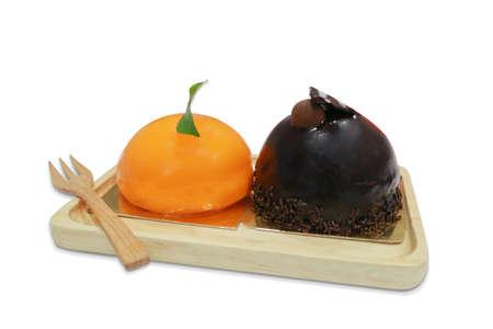 cake ball: Orange  Chocolate Cake Ball Stock Photo