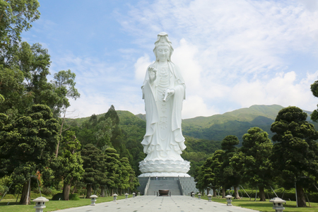 Tsz Shan Monastery.It is a Chinese Buddhist monastery in Tung Tsz.Much of the monastery building funds were donated by local business magnate Li Ka-shing.Guanyin in Hong Kong Editorial