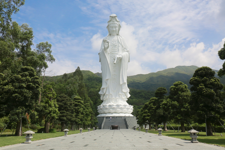 Tsz Shan Monastery.It is a Chinese Buddhist monastery in Tung Tsz.Much of the monastery building funds were donated by local business magnate Li Ka-shing.Guanyin in Hong Kong 写真素材