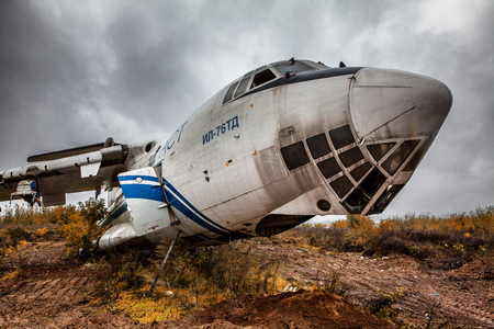 old plane: Abandoned plane