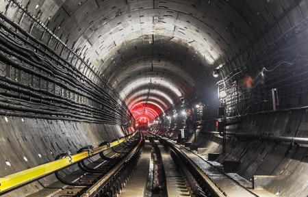 concrete construction: New subway tunnel