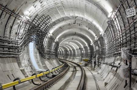 モスクワの地下鉄のトンネルの建設 写真素材
