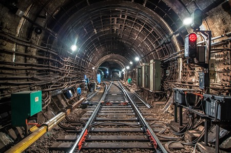 Subway tunnel in Moscow city