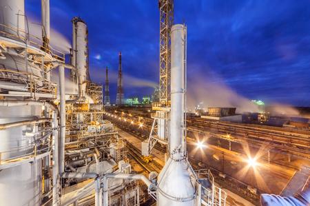 amoniaco: F�brica de productos qu�micos para la producci�n de amon�aco y nitr�geno de la fertilizaci�n en la noche.