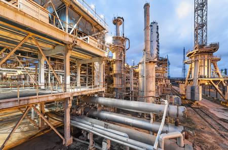 Chemical plant for production of ammonia and nitrogen fertilization on night time. Zdjęcie Seryjne