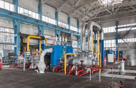amoniaco: estación de compresión para la producción de amoníaco. Interior