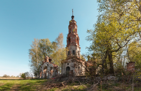 bell tower: Old abandoned brick bell tower