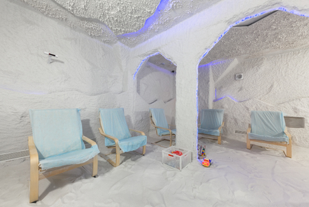 MOSCOW - APRIL 2015: Interior Salt Cave Galo Plus Therapy (Halotherapy)