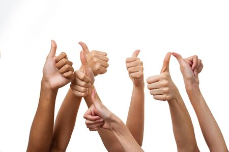 thumbs up: human hand thumbs up Stock Photo
