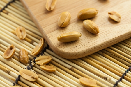 salted peanuts on the table