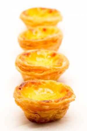 egg tart: delicious chinese egg tart shooting in studio
