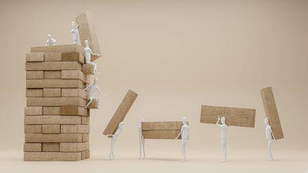 teamwork make thing bigger, 3d render