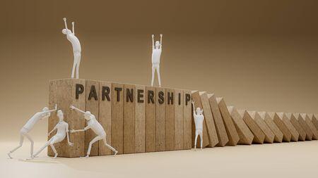 teamwork make thing bigger, 3d render Reklamní fotografie - 150545223