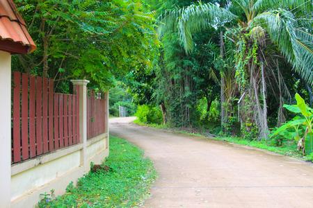 bulwark: Street in my village at Prachinburi Province,Thailand