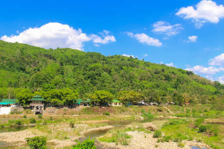 vibrant cottage: Landscape  at countryside in Thailand. Stock Photo