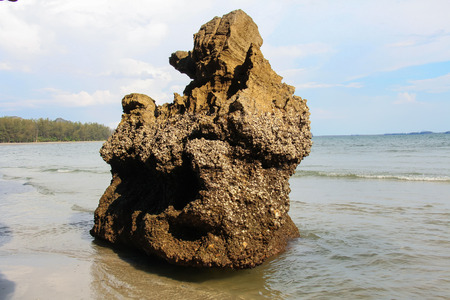 yong: Big stone on Yong Ling Beach in Trang province,  Thailand.