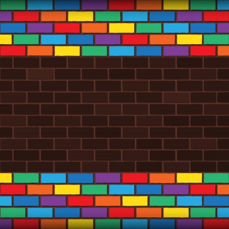 bricks laying and painted with rainbow colors Stock Vector - 23117969