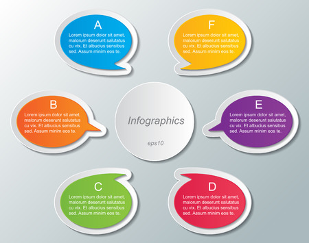 set of multi colored speech bubble infographic templates. infographic elements.