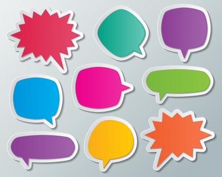 Ensemble de discours de papier blanc multicolore bulles éléments infographiques Banque d'images - 24164994