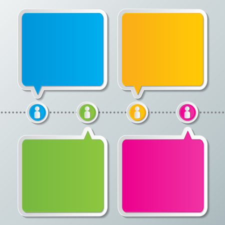 buble: colorful paper speech buble infographic design templates