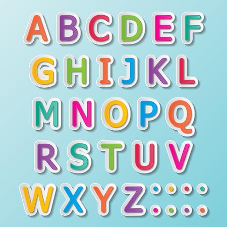 kleurrijke papier lettertype tekent hoofdletters AZ