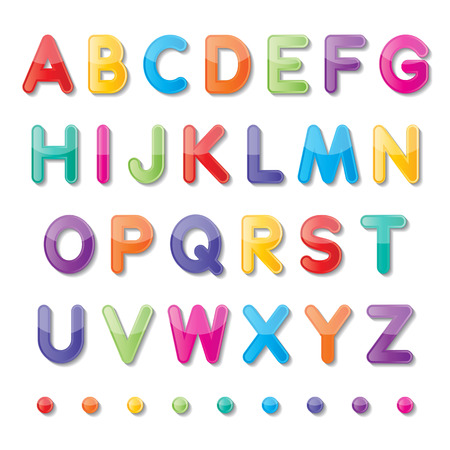 colorful paper capital letters a to z fonts
