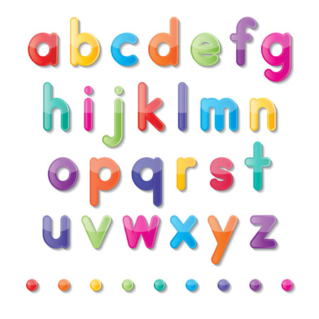 letters clipart: colorful paper small letters a to z fonts