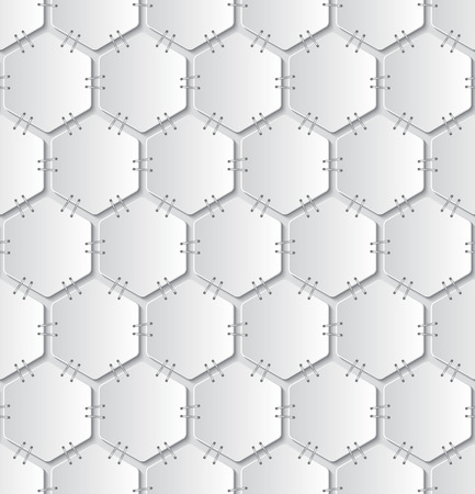 bind: white papers attached with staples seamless pattern on light grey background.