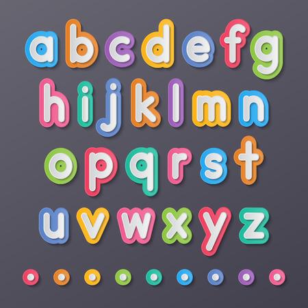 abecedario: papel colorido peque�as letras del alfabeto a fuentes z.