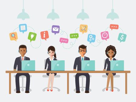 Call center i obsługi klienta w biurze.