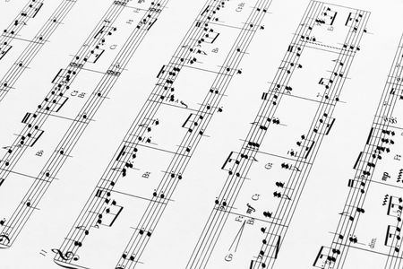 Close up of music sheets for pedal harp Stock Photo - 3499702