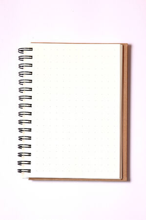 isolated notebook photo