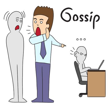 gossiping: vector cartoon character man gossip