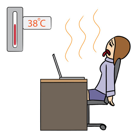 hot woman: vector cartoon character woman hot Illustration