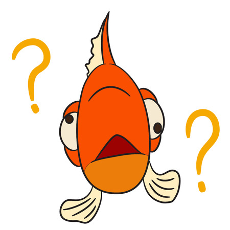 forgotten: vector cartoon character fish forgotten