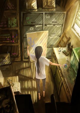 digital illustration: illustration digital painting artist studio