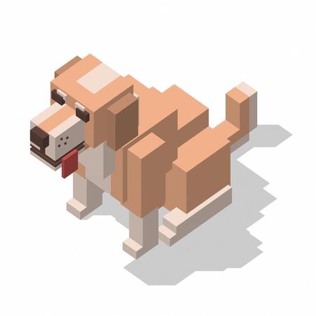 rectangle: isometric rectangle design dog